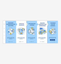 Business counseling stages onboarding template vector