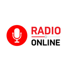 Button online radio circle vector