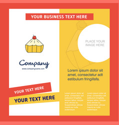 cake company brochure template busienss template vector image