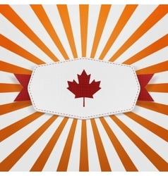 Canada flag symbol realistic emblem vector