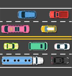 car road topview choosing the vector image