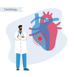 Cardiology template concept vector
