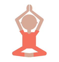 cartoon man practicing yoga vector image