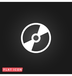 CD or DVD icon vector