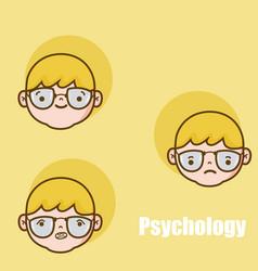 Childrens psychology cartoons vector