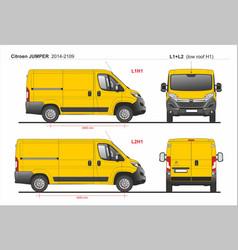 Citroen jumper cargo van l1h1 and l2h1 2014-2019 vector
