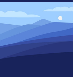 color landscape with vector image
