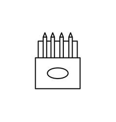 colored pencils icon vector image