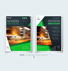 Cover design for brochure flyer report catalog vector