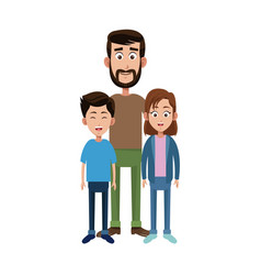 Dad and kids icon vector