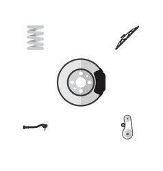 Flat component set of input technology metal vector