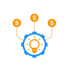 Funding of new product investing crowdfunding vector