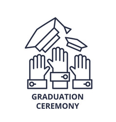 graduation ceremony line icon concept graduation vector image