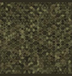 green hexagon snake skin seamless geometric vector image