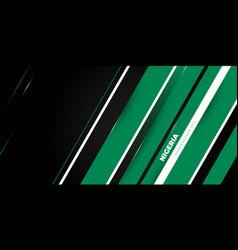Green white geometric design with black vector