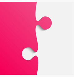 grey and pink piece puzzle jigsaw vector image