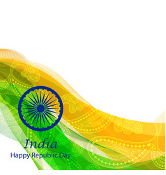 Happy Republic Day of India background vector image