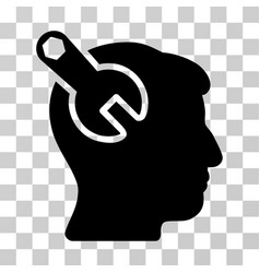 head neurology wrench icon vector image