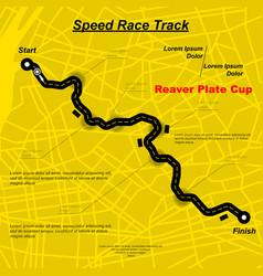 highway speed track in city vector image