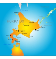 Hokkaido island vector image