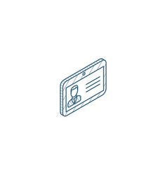 Id card car drive licence identity pass isometric vector