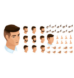 isometrics create your emotions for a man vector image