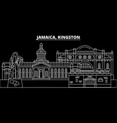 Kingston silhouette skyline jamaica - kingston vector