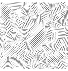 line seamless pattern abstract doodle geometric vector image