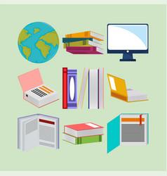 litaracy day books vector image