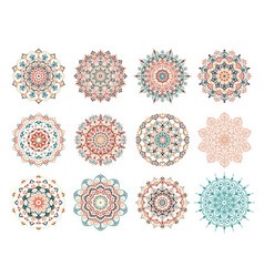 Mandala design elements collection vector