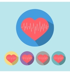 Medical icon heart vector image