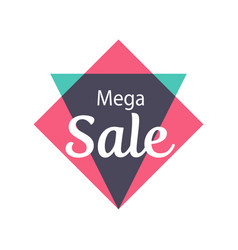mega sale isolated sticker vector image