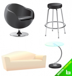 Modern furniture vector