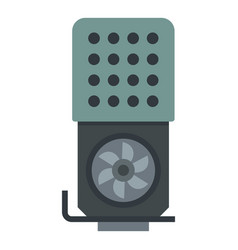 Modern video card icon flat style vector