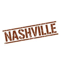 Nashville brown square stamp vector
