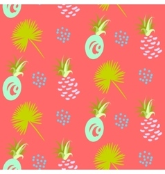 Pineapple abstract exotic coral seamless vector image