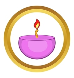 Pink urning candle ico cartoon style vector