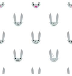 Rabbit emoticons pattern-12 vector