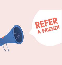refer a friend concept vector image