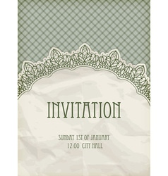 retro invitation template vector image