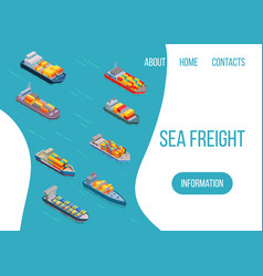 sea freight logistics ship vector image