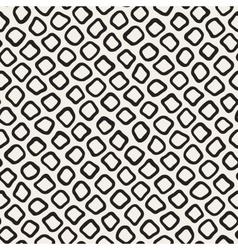 Seamless Black and White Hand Drawn Circles vector