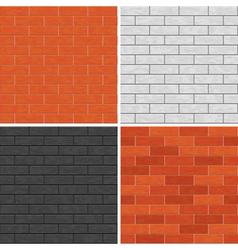 Seamless brick wall patterns vector