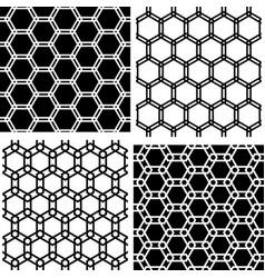 Seamless hexagons patterns vector