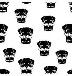 Seamless pattern with rottweiler puppies Black vector