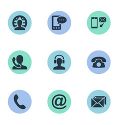 set of simple communication vector image