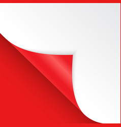 shape bent angle is free for filling red color vector image