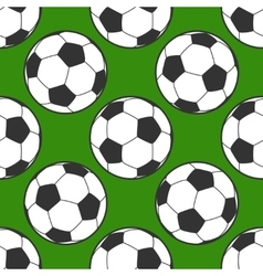 Soccer ball seamless background vector