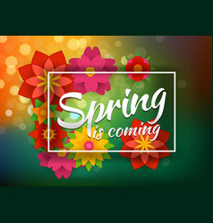 Spring party poster concept abstract blured vector