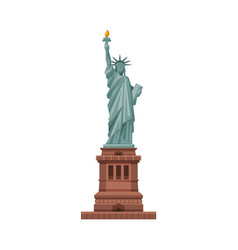 statue liberty as famous city landmark and vector image